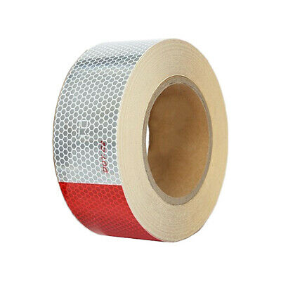 """2"""" x 150 ft DOT-C2 CERTIFIED Reflective Conspicuity Tape Safety - Red & White"""