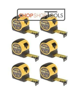 Stanley FatMax 5m Tape Measure Blade Armor 5m/16ft 0-33-719 STA033719  Pack of 6
