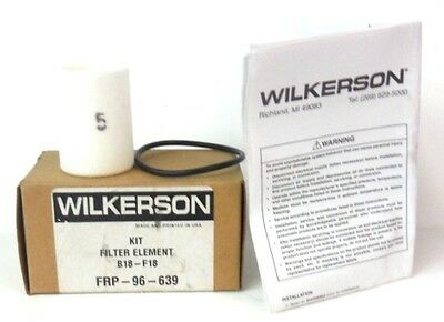 Wilkerson, Filter Element Kit, B18 - F18 Frp-96-639, New In Box