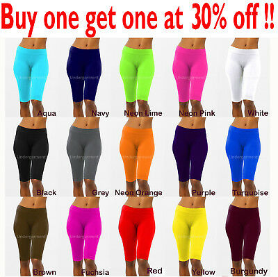 6a04c5c8b0732 Womens Leggings Stretch Biker Shorts Workout Nylon Yoga Pants Size XS,S,M,