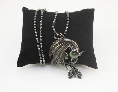 How To Train Your Dragon 2 Toothless Night Fury Necklace Pendant In Box US Ship