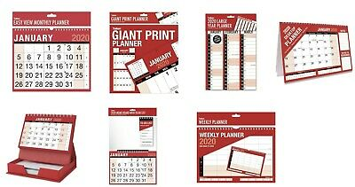 2017 Hanging Wall Calendar Large Month to View Planner-Easy View Calendar-Slim