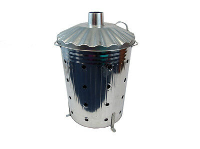 Incinerator  90L Fast Burner Heavy Gauge With  Holes All The Way Up