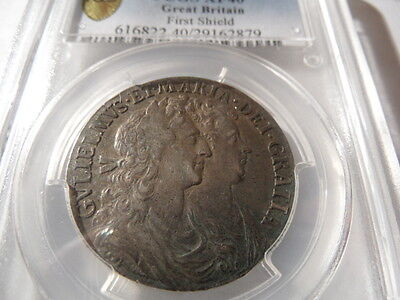 PCGS Certified 1689 William and Mary Halfcrown EF40!!!