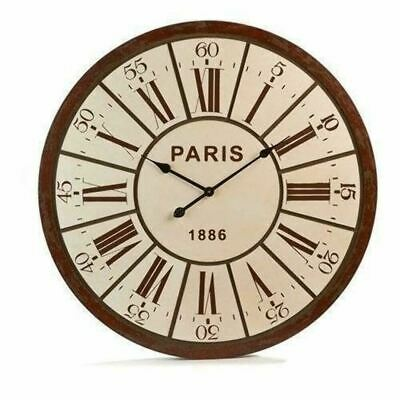 Gift Craft Battery Powered Wall Clock in Vintage Parisian French Country Design