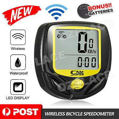 Premium for Wireless Bike Bicycle Cycle Computer Speedometer Odometer Waterproof