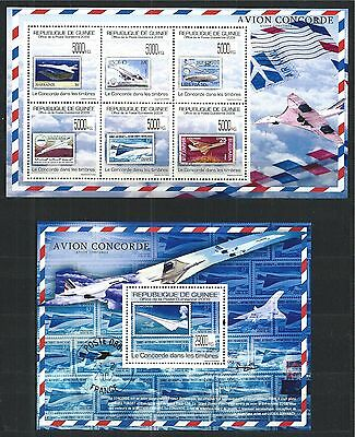 Guinea Guine 2009 Block Mini Sheet Set Avion Concorde **