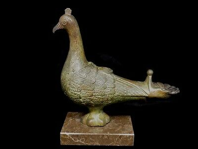 Bronze Oil Lamp - Pigeon Design - Ancient Greek Bronze Cast Method