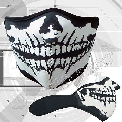 Neoprene Cold Weather Half Face Mask Ski Biker Motorcycle Paintball