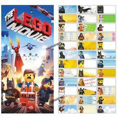 72pcs 3x1.3cmThe Lego Movie Personalised Name Label Sticker vinyl kids tag boy