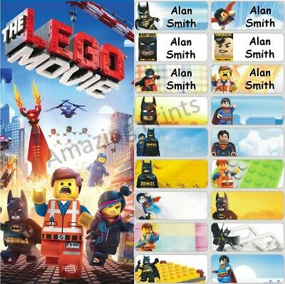 The Lego Movie Personalised Name Label Sticker vinyl kids book boy 4.6x1.8cm