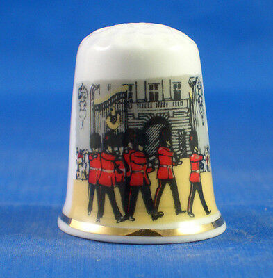 FINE CHINA THIMBLE - TROOPING THE COLOUR