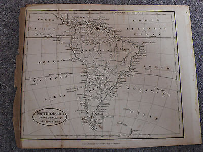 Antique 1814 Map - South America