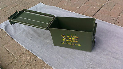 3 Grade A Empty Ammo Cans! 5.56 or .50 cal FREE SHIPPING! 12x7x6 NICE CANS!