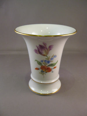 Antique Vase trumpet shape Meissen Porcelain Germany -- free shipping