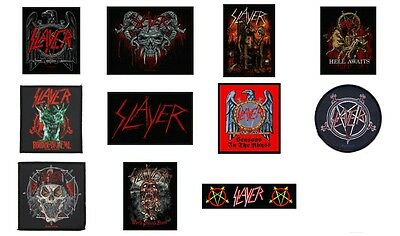 Slayer Sew On Patch/Patches NEW OFFICIAL. Choice of 9 designs
