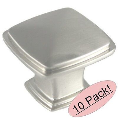 *10 Pack* Cosmas Cabinet Hardware Satin Nickel Square Cabinet Knob #5232SN