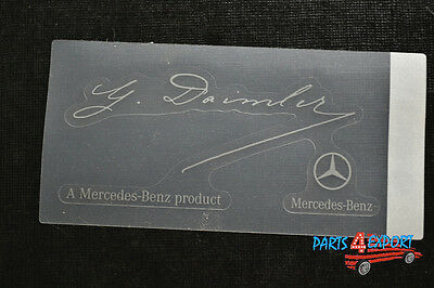 NEW Mercedes Benz G Daimler Signed Clear Windshield Glass Decal - Genuine OEM