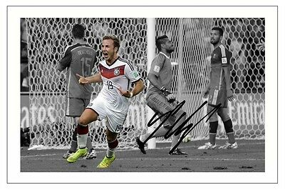 Mario Gotze Germany 2014 World Cup Autograph Signed Photo Print Autogramm Soccer