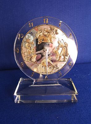 "Rare & Exquisite American Art Deco Chrome And Crystal ""crystal Vue"" Shelf Clock"