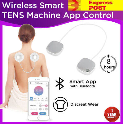 WIRELESS Smart TENS Machine Massager Unit Physio Body Muscle Pain Relief Remote