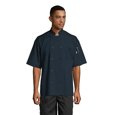 South Beach Short Sleeve Chef Coat, All Colors, Sizes XS to 2XL, 0415