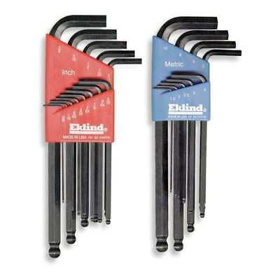 EKLIND 13222 Ball End Hex Key Set,0.050-10mm,L-Shaped