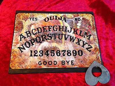 Bizarre Magic Old Man of the woods Weeja wooden Ouija Board & Planchett fortune