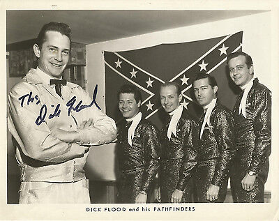 1966 8 x 10 autographed photo of Dick Flood & His Pathfinders