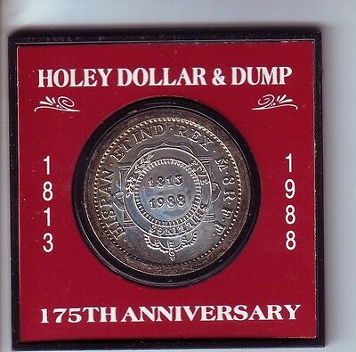 1813-1988 Holey Dollar & Dump 175th Anniversary New South Wales