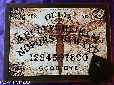 Wooden Ouija Board Steampunk & Planchette weeja fortune telling Ghost Seance