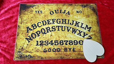 Old London Town Seance Ouija Board laminated sheet oracle + Birch  Planchette