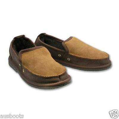Australian Made 100% Sheepskin Ugg Slippers - Loafers Chocolate Brown-Chestnut