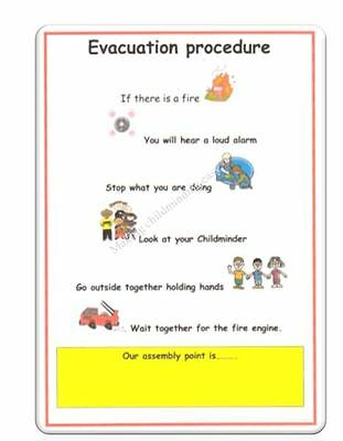 Childminder EVACUATION PROCEDURE POSTER Childminding EYFS