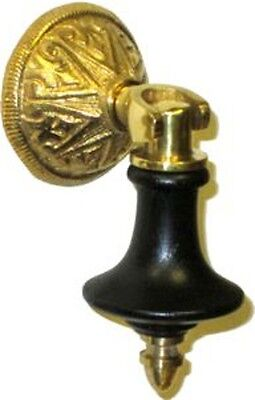 **NEW!** Eastlake Brass & Wood Teardrop Pull  BW1261