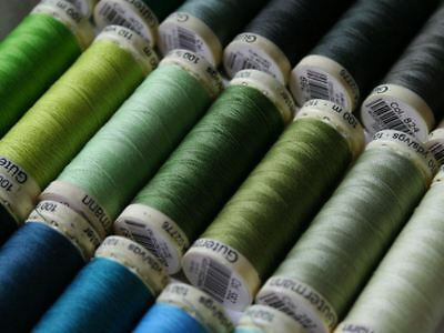 Gutermann Sewing Thread, 100m, Hand & Machine Sewing, Green, Turquoise, Mint