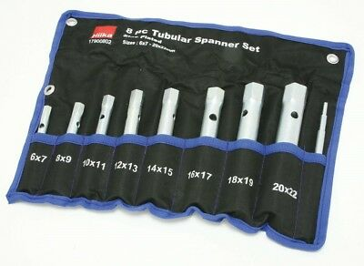 Tubular Box Spanner Set 6mm - 22mm Spark Plug Spanner Wrench 8 Pc Hilka