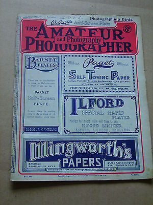 AMATEUR PHOTOGRAPHER AND PHOTOGRAPHY Mar 19th 1919 Incredibly Rare!