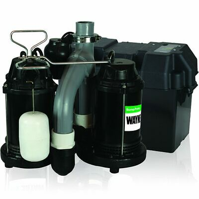 Wayne WSS30Vn - 1/2 HP Combination Primary and Backup Sump Pump System