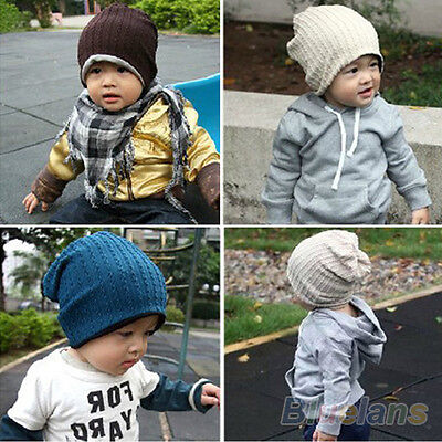 Lovely Children Infant Toddler Beanie Hat Warm Winter Boys Girls Cap 5 Colors