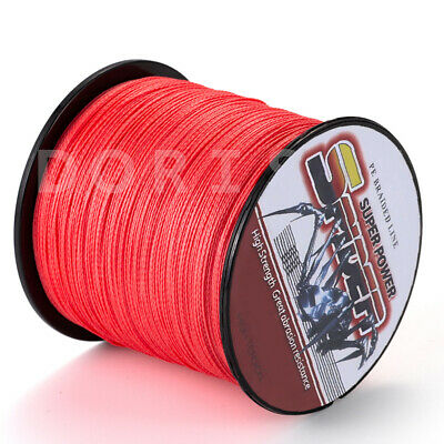 Spider  100-2000m  10 to 300LB 100%PE Red Braid Fishing line/Agepoch line