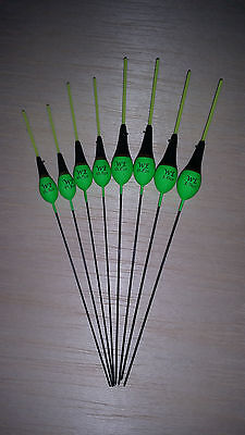 8 x Assorted High Quality Pole Fishing Floats (Pack 312Y8)