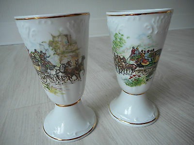 Limoges porcelain decorative tall coffee cups / chocolate cups