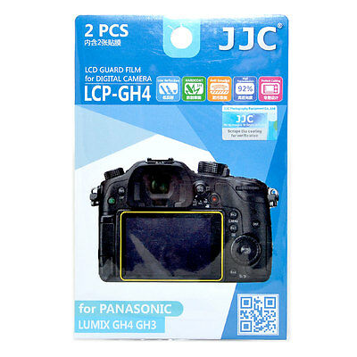 JJC LCP-GH4 LCD Film Camera Screen Display Protector for Panasonic Lumix GH4 GH3