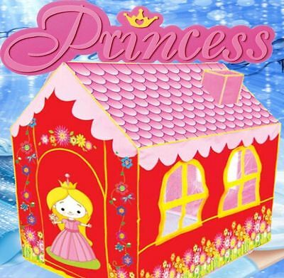 Girls Pink Red Princess Play Tent Castle Indoor Outdoor XL Cubby House Carry Bag