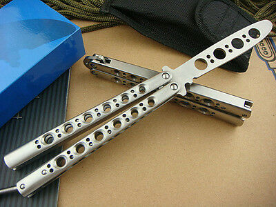 Practice Balisong Butterfly Knife Sports Metal Trainer Tool With Sheath K040