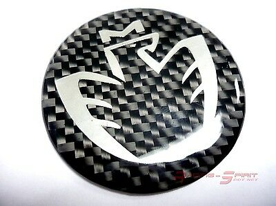 3D Glossy Real Carbon Fiber Chromed Midship Logo Horn Emblem Mr2 Spyder Mr-S Jdm