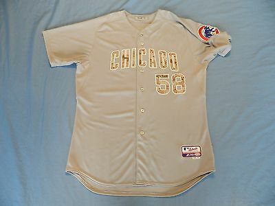 Mike Borzello 2013 Chicago Cubs game used jersey