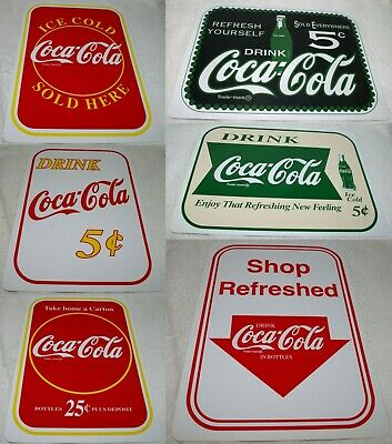 """COCA COLA COKE Sign Refresh Yourself Sold Everywhere Plastic Sign 8 1/2"""" X 12"""""""