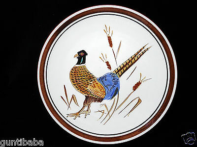 "VINTAGE LARGE STANGL ART POTTERY PLATE 11-1/4"", RING NECK PHEASANT DESIGN"